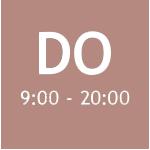 DO 9:00 - 20:00